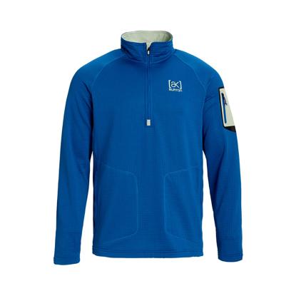 PULOVER B AK GRID HALF ZIP CLASSIC BLUE S