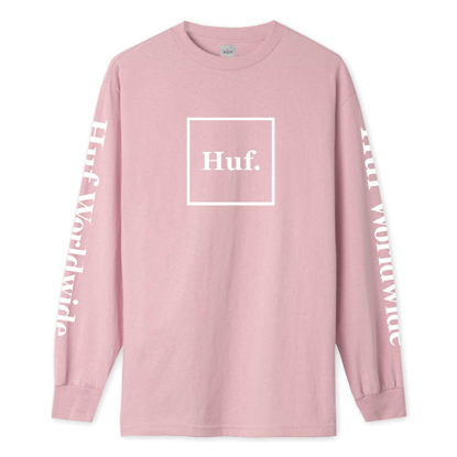 MAJICA HUF ESSENTIALS DOMESTIC L/S CORAL PINK S