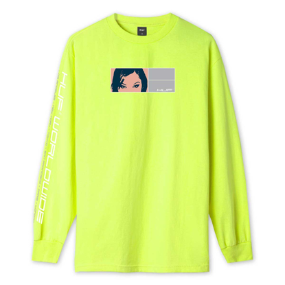 MAJICA HUF WONDERLAND L/S HOT LIME S