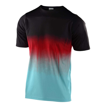 TLD JERSEY KID SKYLINE S/S STAIN'D BLK/TURQUOISE L