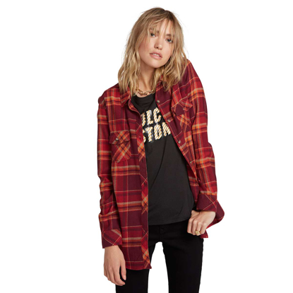 SRAJCA VOL W GETTING RAD PLAID L/S ZIN S