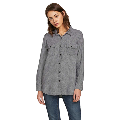 SRAJICA VOL W GETTING RAD PLAID L/S BLC S