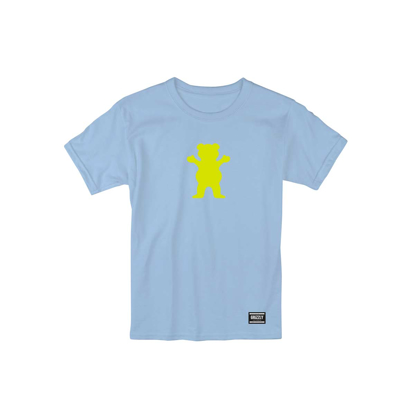 MAJICA GRIZZLY OG BEAR S/S BABY BLUE/NEON YELLOW M