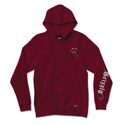 PULOVER GRIZZLY FLASH ART HO BURGUNDY M