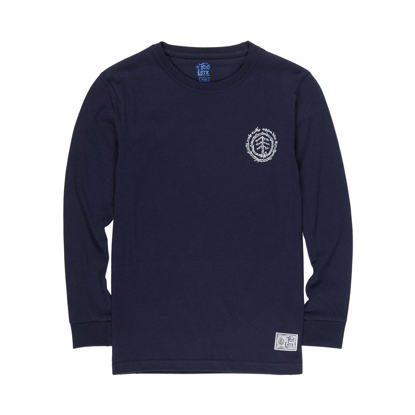 ELEMENT TOO LATE LOGO L/S KID ECLIPSE NAVY 10