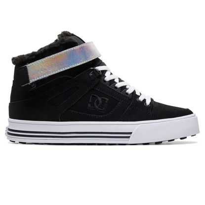 SP COP DC W PURE HI-TOP V WNT BLK/SILVER 7,5