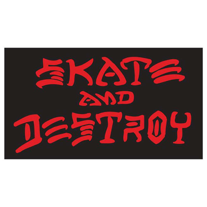 NALEPKA THR SKATE AND DESTROY LARGE BB TU