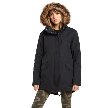 JAKNA VOL W LESS IS MORE 5K PARKA BLK XS