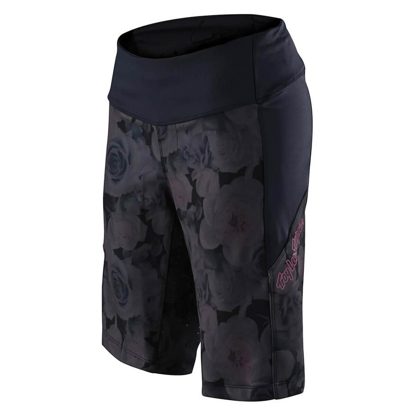 TLD HLACE W LUXE SHORT SHELL FLORAL BLACK S