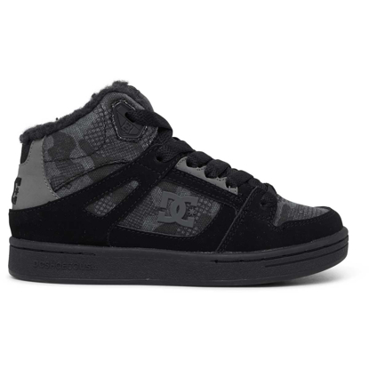 DC PURE HIGH-TOP WNT BLK CAMOUFLAGE 2K