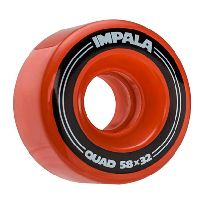 IMPALA 4 PACK WHEELS RED 58