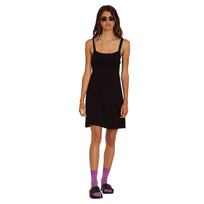 VOLCOM EASY BABE DRESS W BLACK S
