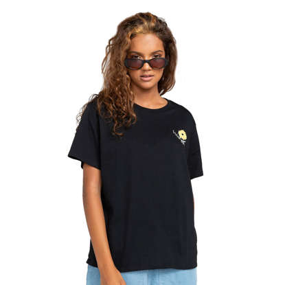 ELEMENT RISE AND SHINE T-SHIRT W BLK L